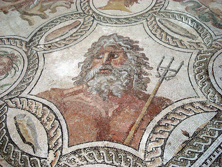 DSC00363 - Mosaico delle stagioni (epoca romana) - Foto G. Dall'Orto - Neptune (mythology) - Wikipedia