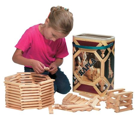 KAPLA byggesystem med 200 staver. Lærer logikk og konstruksjon.