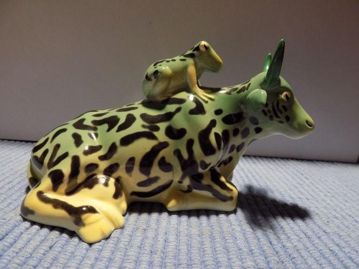 COW PARADE MOTHER FROG  #9207 Ceramic Figurine