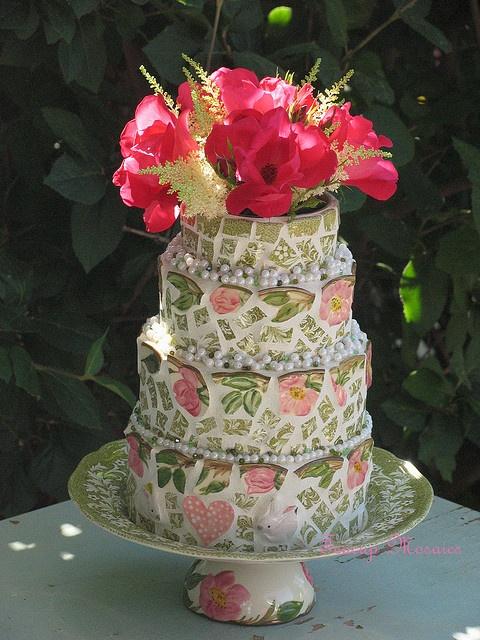 Bunny-Love-Cake by teacup mosaics, via Flickr