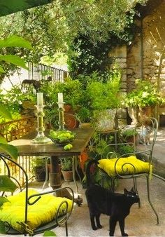 .Pretty Backyard Patio. t