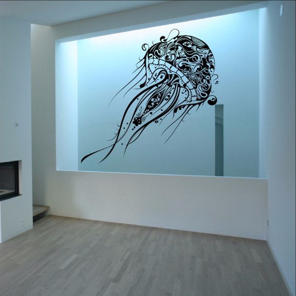 Abstract Jellyfish Vinyl Wall Decal Extra Large 22085 Nautical Decorvinyl