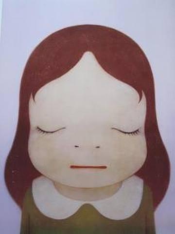 Yoshitomo Nara, Cosmic Girl - Eyes Closed