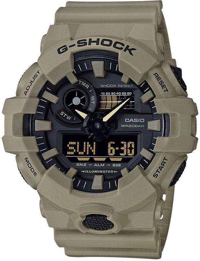 90604ede5fae G-Shock Men s Analog-Digital Beige Resin Strap Watch 53mm - Tan ...