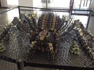 Price Chopper's Tarantula at Canstruction 2012 to benefit local food pantries...