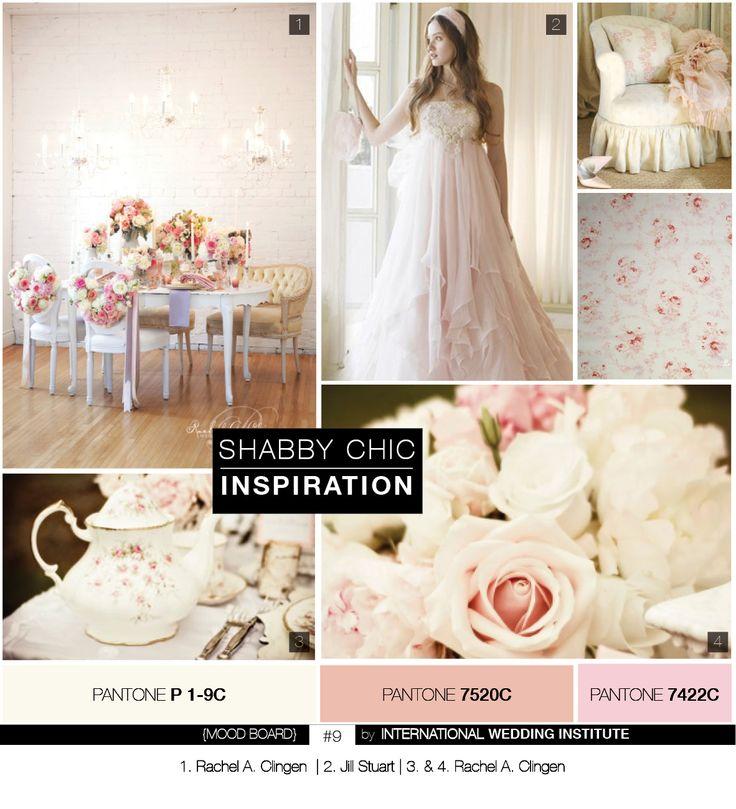 #planche d' #inspiration pour un mariage #shabby chic. Inspiration #Board Shabby chic #Vintage Wedding.  #mood #board #9