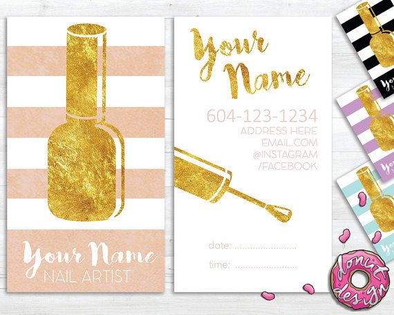 Nail Artist Beautician Manicure Business/Appointment Card 10$ CAN