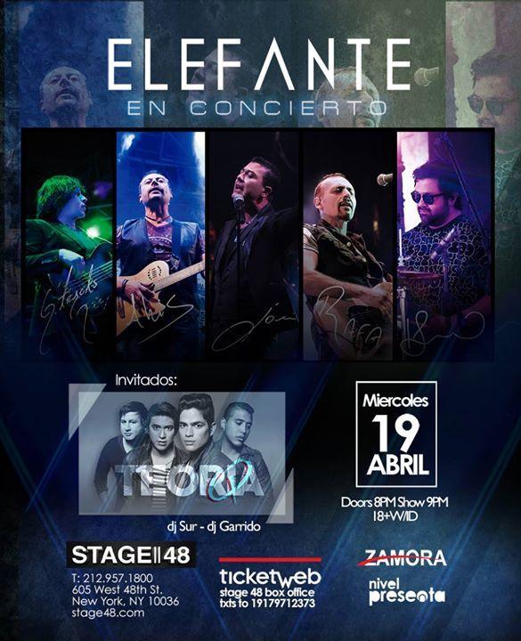 Elefante en Concierto - http://fullofevents.com/newyork/event/elefante-en-concierto-2/