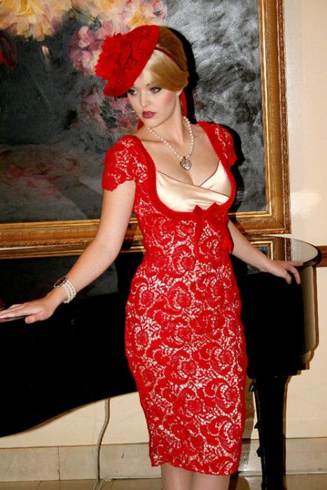 La Fille en Rouge Wiggle Dress - La Fille en Rouge - Collections