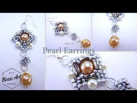 Pearl Earrings | Beading Tutorial - YouTube