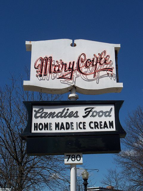 Mary Coyle, a candy and ice cream place......Akron, Ohio Love this place.  Have gone there for the last 50+ years.   The decor hasn't changed a bit nor the heavenly ice cream selections.