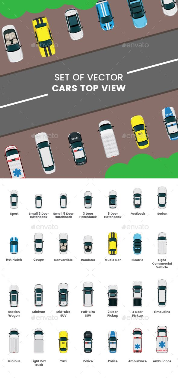 Cars Icons Top View