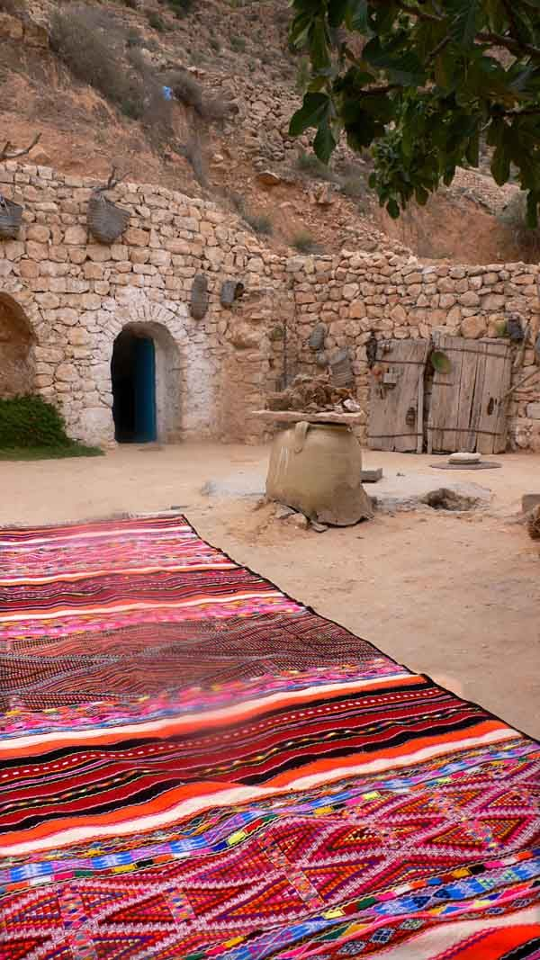 Berber Kilim rug making village, Morocco