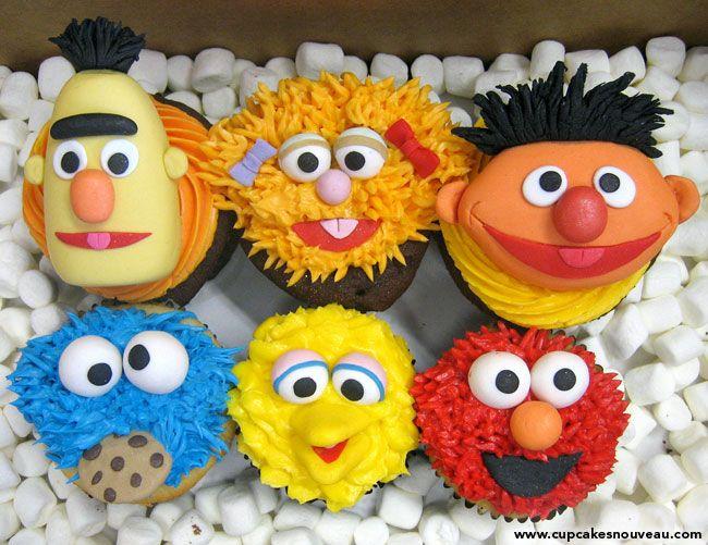 Cupcakes de Barrio Sésamo