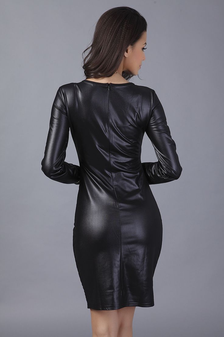 33++ Long sleeve pleather dress ideas