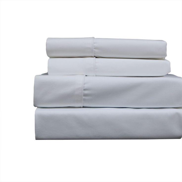 White Deep Pocket Top Split King Sheets (Half Split Fitted)Adjustable King Sheet