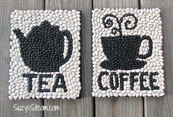 how to create signs made out of beans decor, crafts, repurposing upcycling, wall decor