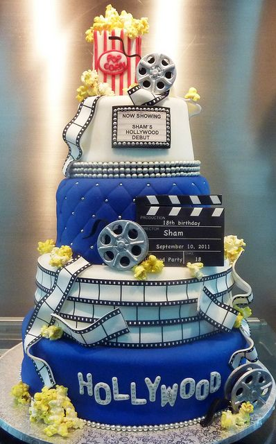 Movie themed wedding cake - For all your cake decorating supplies, please visit craftcompany.co.uk