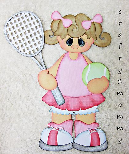 Tennis Girl Premade Paper Piecing for Scrapbook Pages or Borders by Sherri | eBay