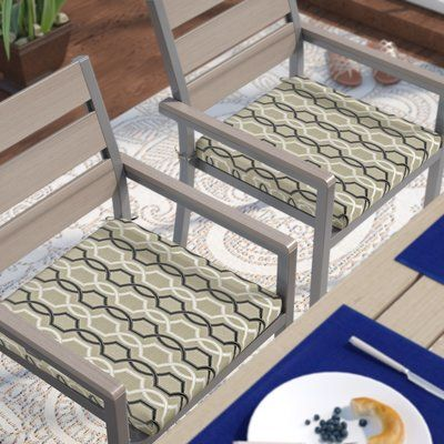 Darby Home Co Bank Indoor/ Outdoor Chair Cushions Size: 20 Inch