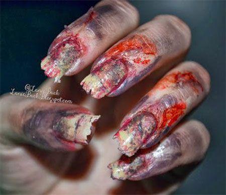 15 + Creepy Halloween Zombie Nail Art Designs, Ideas, Trends ...