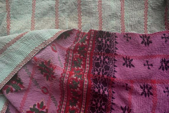 kantha quilt vintage kantha quilt indian quilt bed by fairlyworn