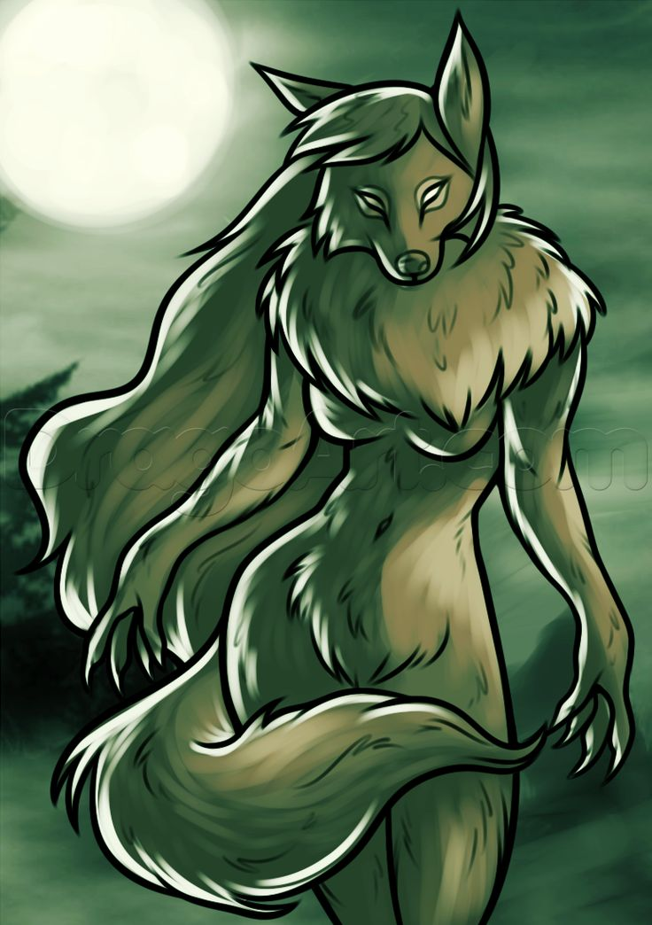 Female Werewolves | How to Draw a Female Werewolf, Step by Step, Werewolves, Monsters ...