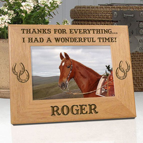 "Personalized Memorial Horse Frame ""Thanks For Everything, I Had A Wonderful Time!"""