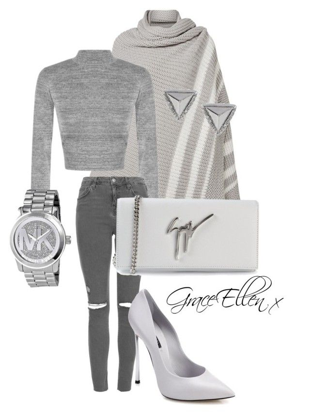 50 shades of grey edition by miss-grace-ellen on Polyvore featuring polyvore fashion style Topshop Casadei Giuseppe Zanotti Michael Kors Express Witchery clothing