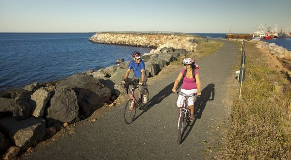 Biking, Caraquet Harbour, New Brunswick Canada