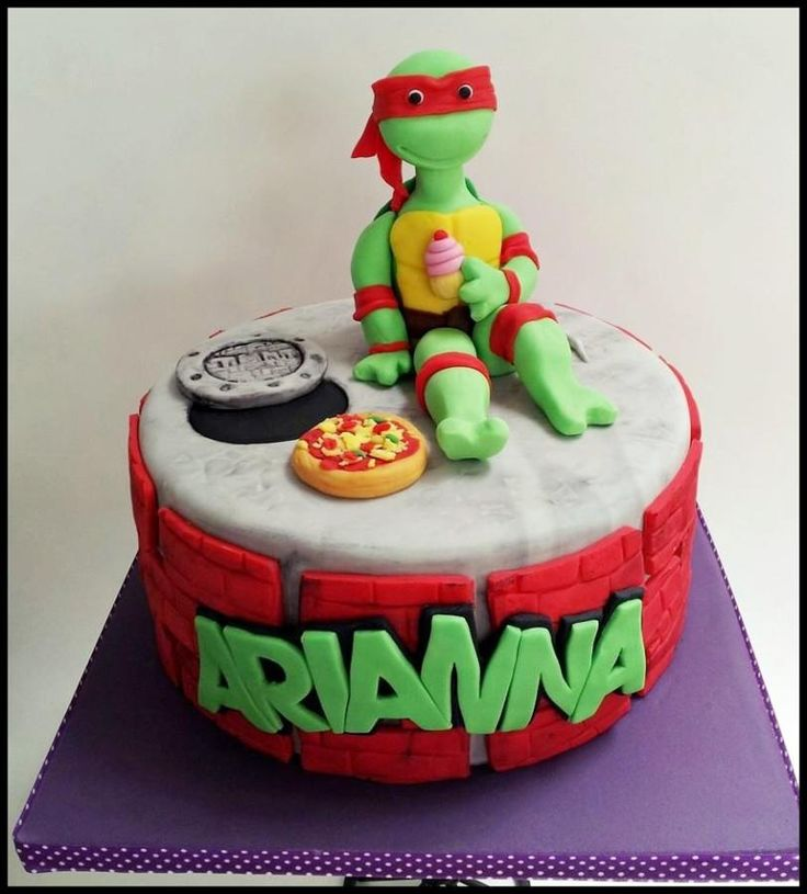Turtle Ninja Cake birthday Idea on Pinterest  Birthday cakes, Ninja ...
