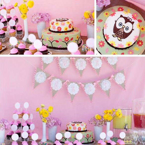 Woodland Themed Baby Shower Decorations | Baby Shower Ideas for girl with owl theme