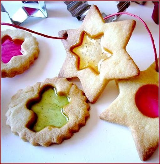 Biscuits rubis pour Noël