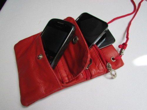 Hot Red Traveling Small Bag Wallet Genuine Leather Crossbody Handbag New Women Fashion