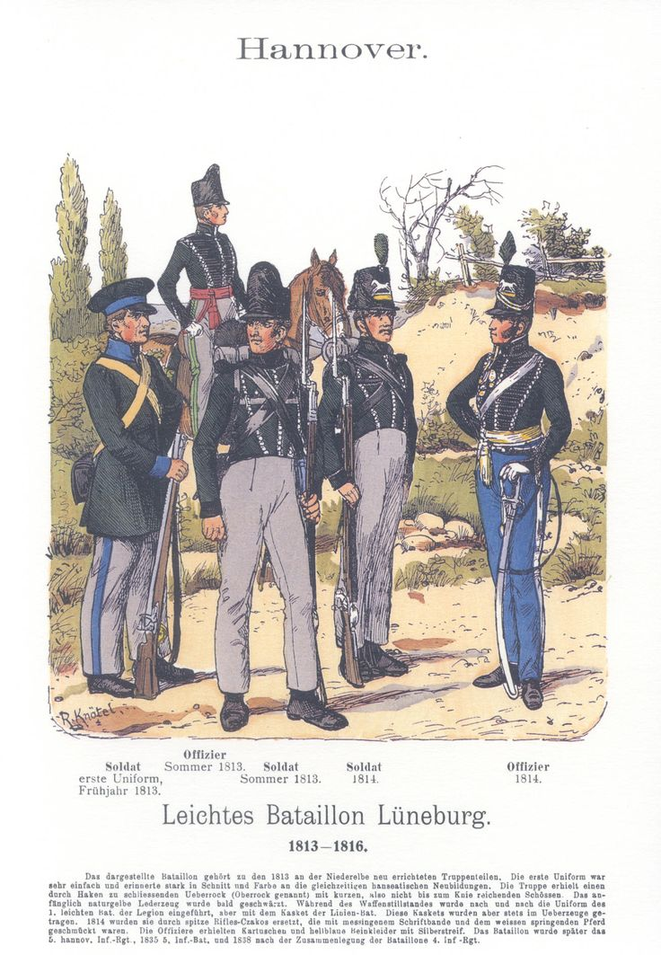 Vol 17 - Pl 55 - Hannover. Leichtes Bataillon Lüneburg 1813 bis 1816.