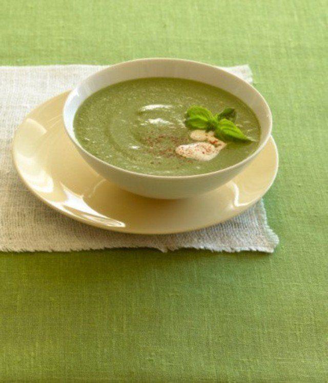 Рецепт Крем-суп из цукини с греческим йогуртом и мятой