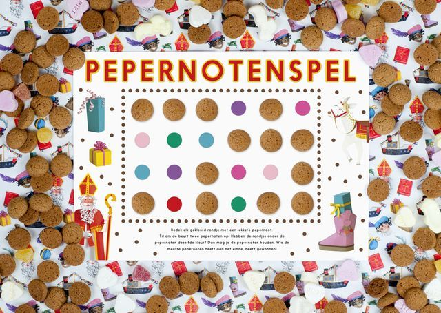 Een spel waarbij je pepernoten kan winnen en daarna mag opeten? Het kan! Met onze pepernoten memory kunnen kinderen, groot en klein 'zoet' met elkaar spelen. En iedereen is een winnaar, want de gewonn
