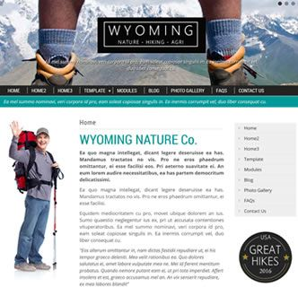 Wyoming Nature - just released. This Joomla template is easy to use, feature packed and comes with the option to recreate the demo or simply upload the template. With various font, colours and styles to choose from you can create your own style to suit your business. Yet another responsive and professional Joomla template by JoomZilla.com
