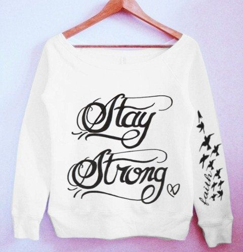 Demi Lovato Stay Strong Tattoo Sweater by CrewWear on Etsy