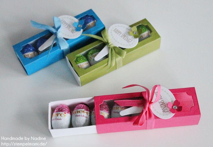 Stampin Up Oster Goodie Ostern Box Gastgeschenke Schachtel Verpackung Matchbox Stempelset From the Garden #stampinup #box