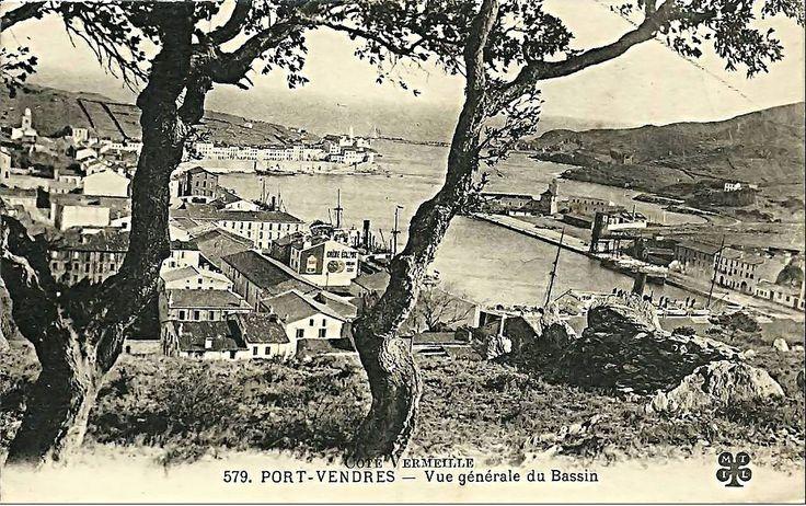 Port Vendres , Vue du Port avant 1929 , terminal du minerai de fer