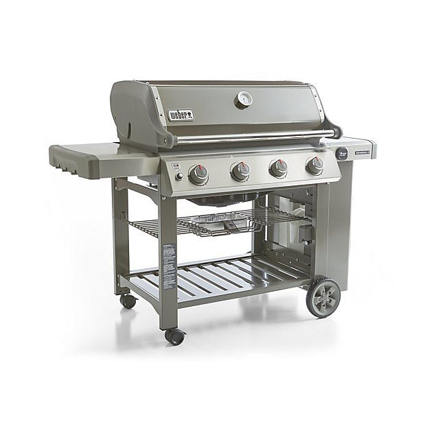 Smoke Weber Genesis Gas Grill | Crate and Barrel