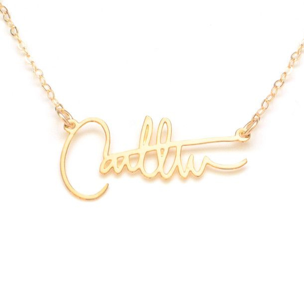 CUSTOM signature necklaces! They will match your handwriting!