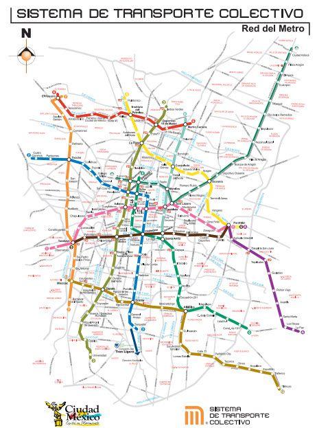 Mapa del Metro de la Ciudad de México - México Destinos.com
