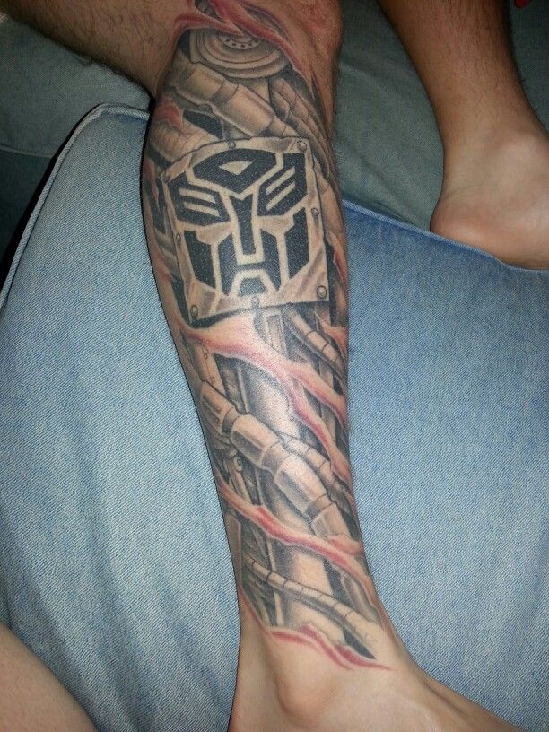 My husbands Transformers tattoo