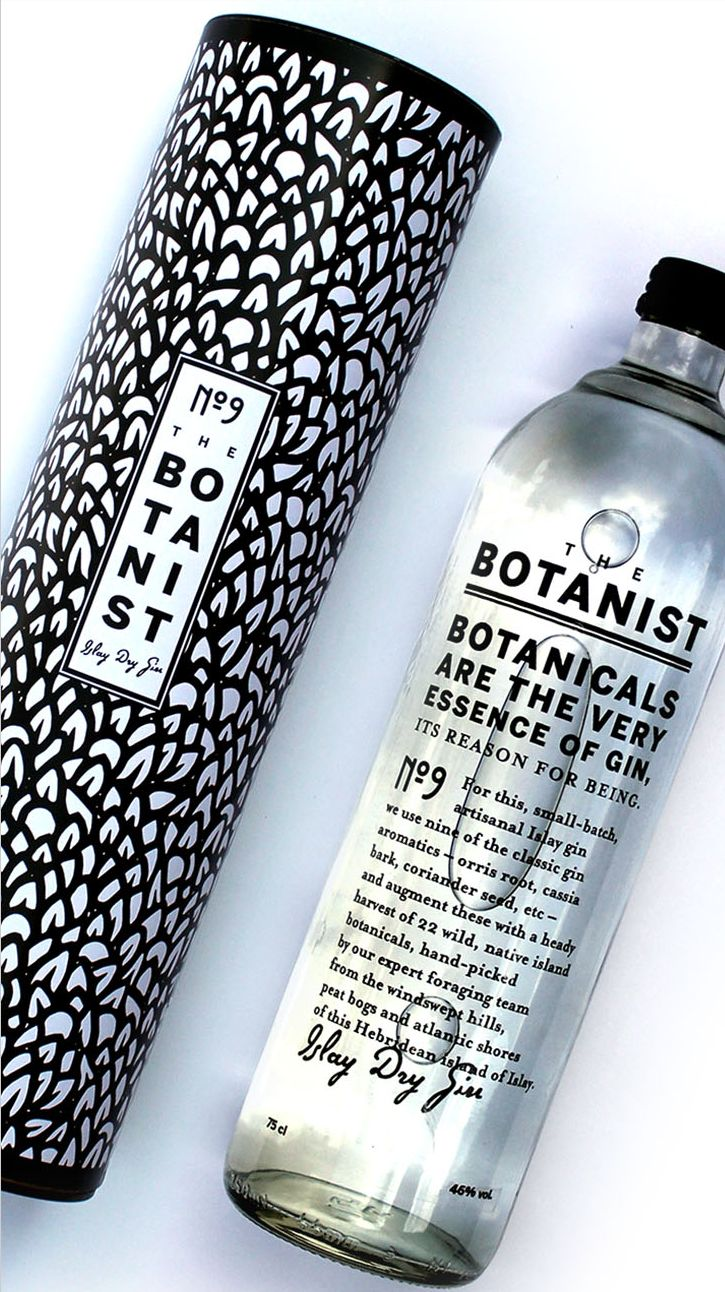 Awesome #gin #packaging in black and white PD