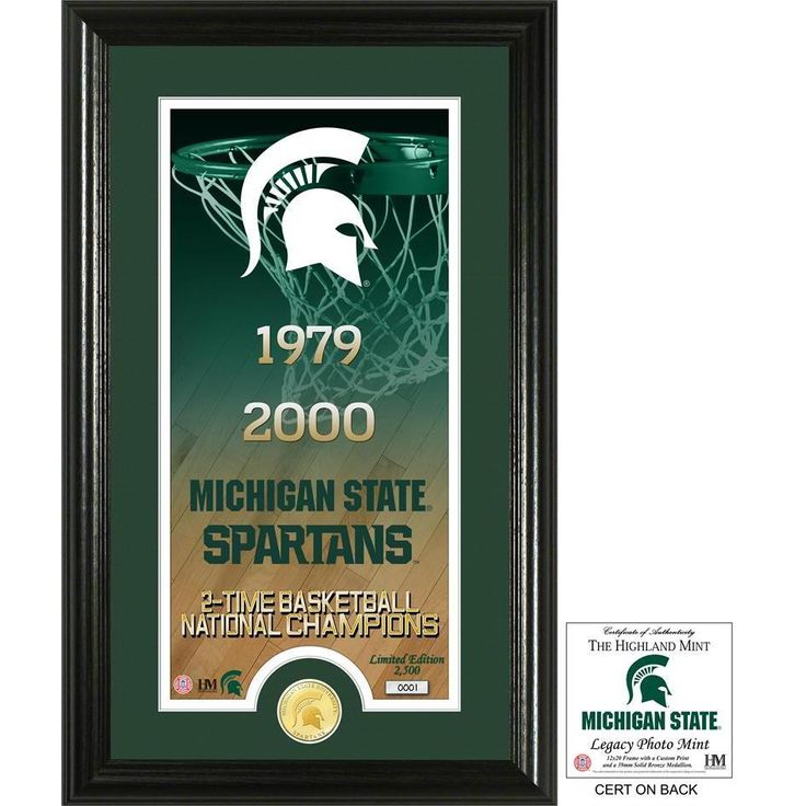 "Michigan State University Basketball ""Legacy"" Bronze Coin Photo Mint"