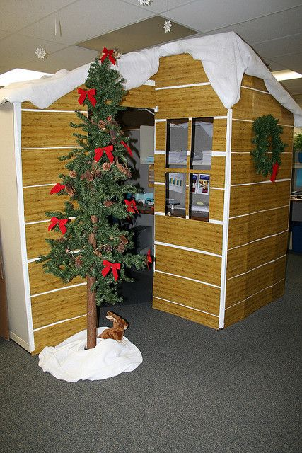 find this pin and more on cubicle christmas office decorating contest - Christmas Office Decorations