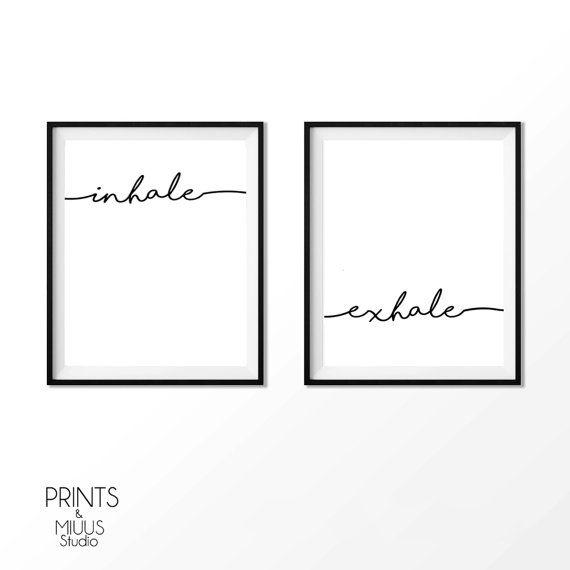 Inademen uitademen Print Pilates kunst door PrintsMiuusStudio
