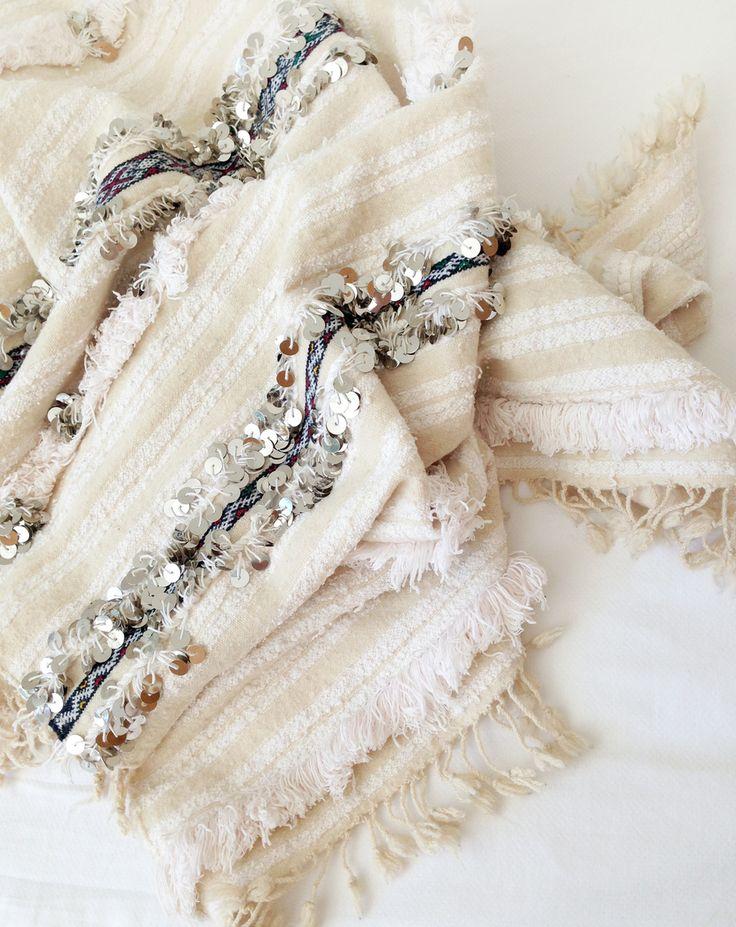 Vintage Moroccan Wedding Blanket #blanc_comm #blancpr #blancbranding…